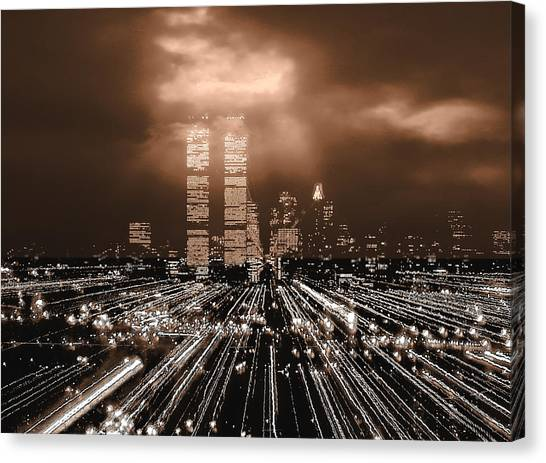 New York City Gold Canvas Print