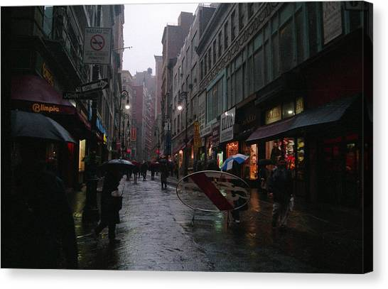 New York City In The Rain Canvas Print by Eric Miller