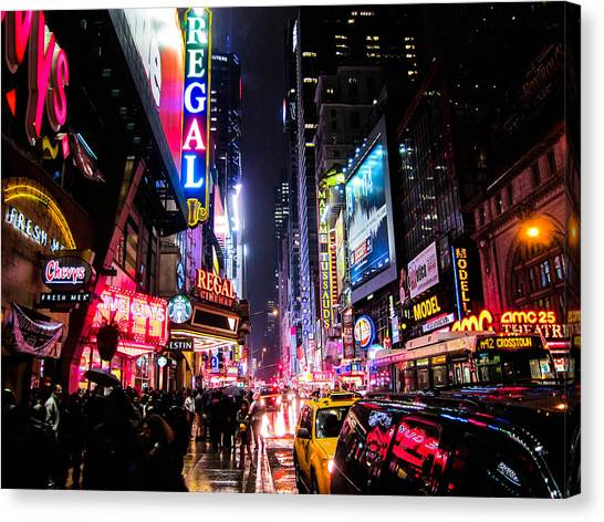 Night Canvas Print - New York City Night by Nicklas Gustafsson