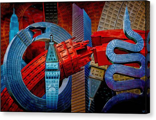 New York City Park Avenue Sculptures Reimagined Canvas Print