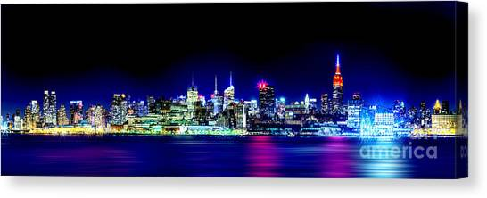 New Jersey Canvas Print - New York City Skyline by Az Jackson