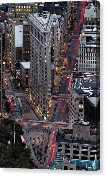 New York City Skyline Flatiron Building Canvas Print
