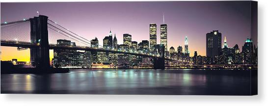 New York Skyline Canvas Print - New York City Skyline by Jon Neidert