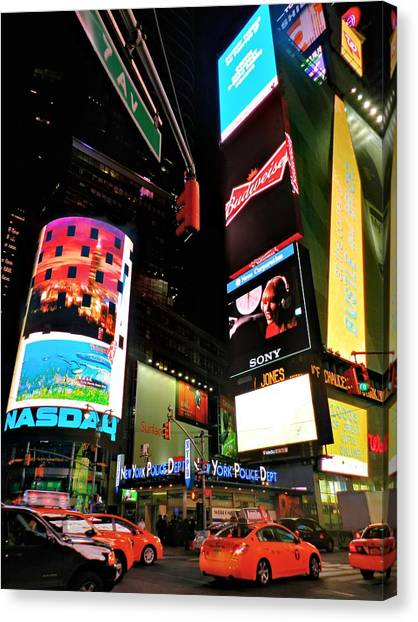 Taylor Swift Canvas Print - New York City - Times Square 004 by Lance Vaughn