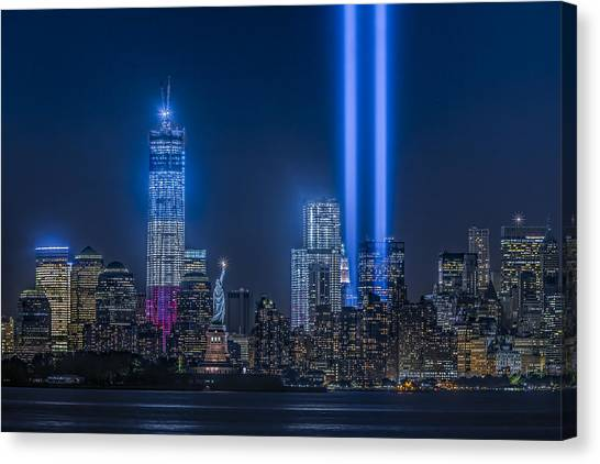 New York City Tribute In Lights Canvas Print