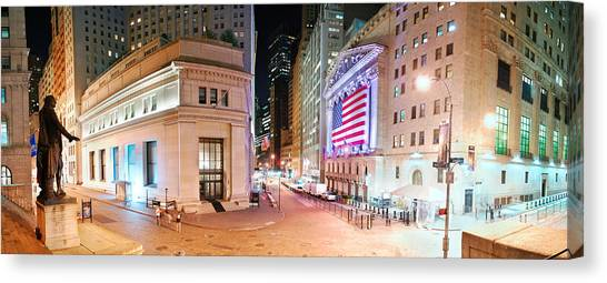 New York City Wall Street Panorama Canvas Print