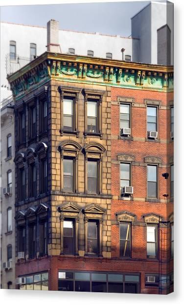 East Village Canvas Print - New York City - Windows - Old Charm by Gary Heller