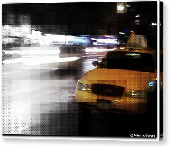 New York Fashion Avenue  Canvas Print by Adriana Garces