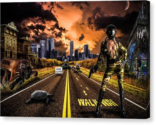 Graffiti Walls Canvas Print - New York Future Girl by Ian Hufton