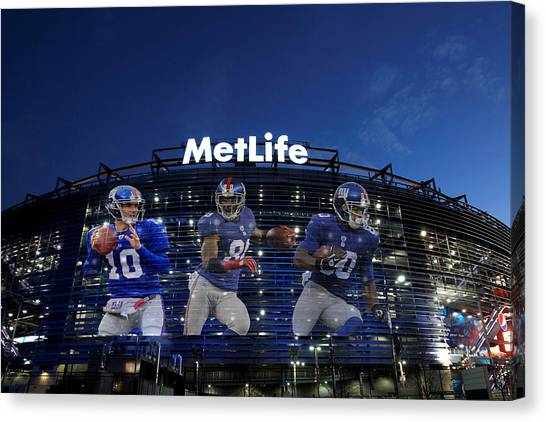 New York Giants Canvas Print - New York Giants Metlife Stadium by Joe Hamilton