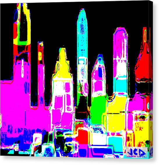 New York Is Rejoicing Canvas Print by Jean-Claude Delhaise