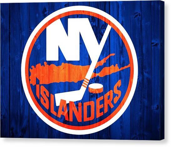 Hockey Teams Canvas Print - New York Islanders Barn Door by Dan Sproul