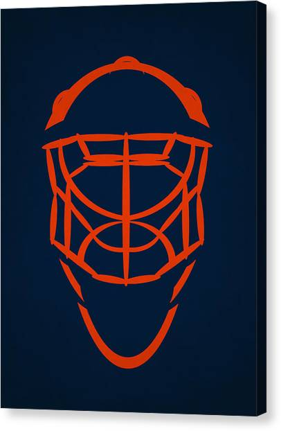 New York Islanders Canvas Print - New York Islanders Goalie Mask by Joe Hamilton