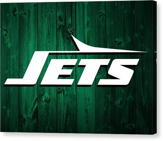 New York Jets Canvas Print - New York Jets Barn Door by Dan Sproul