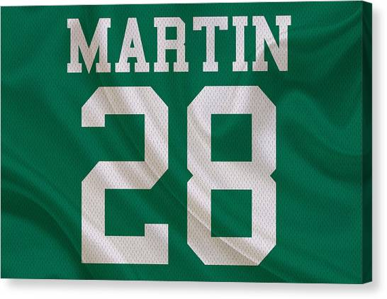 New York Jets Canvas Print - New York Jets Curtis Martin by Joe Hamilton