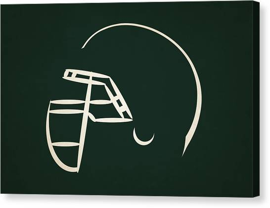New York Jets Canvas Print - New York Jets Helmet by Joe Hamilton