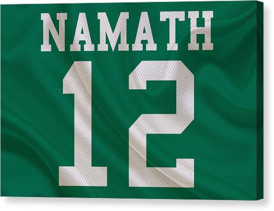 New York Jets Canvas Print - New York Jets Joe Namath by Joe Hamilton