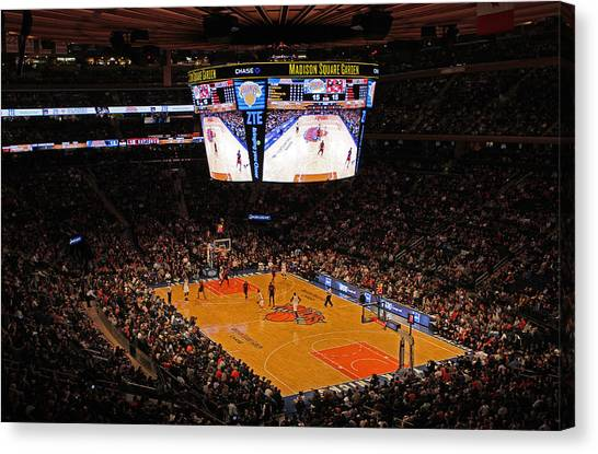 Metropolitan Division Canvas Print - New York Knickerbockers by Juergen Roth