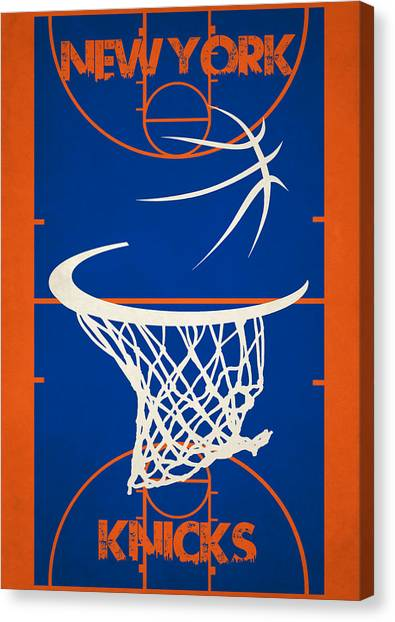 New York Knicks Canvas Print - New York Knicks Court by Joe Hamilton
