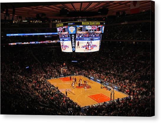 Toronto Raptors Canvas Print - New York Knicks by Juergen Roth