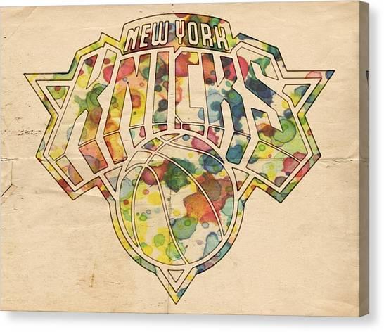 New York Knicks Canvas Print - New York Knicks Logo Art by Florian Rodarte