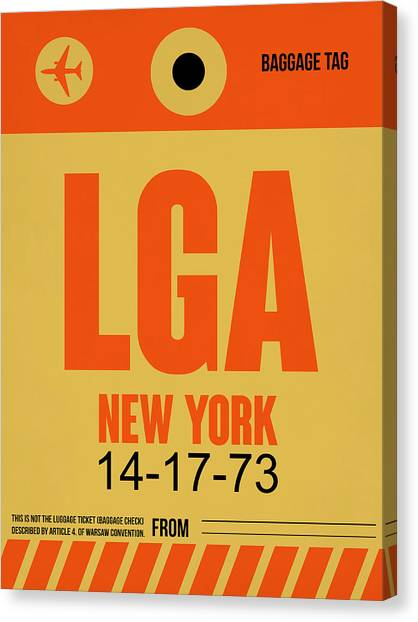 Broadway Canvas Print - New York Luggage Poster 1 by Naxart Studio