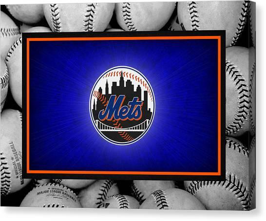 Foul Canvas Print - New York Mets by Joe Hamilton