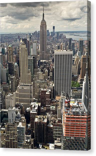 New York Midtown Skyscrapers Canvas Print