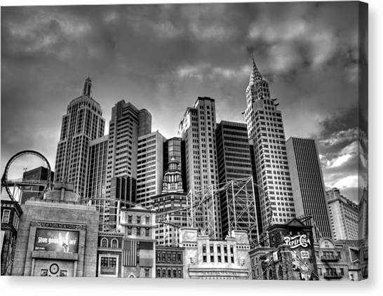 New York New York Black And White Canvas Print