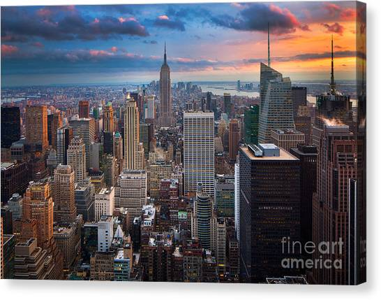 North America Canvas Print - New York New York by Inge Johnsson