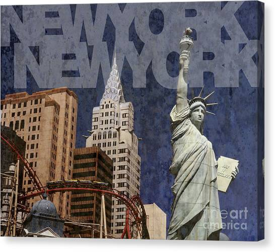 New York New York Las Vegas Canvas Print