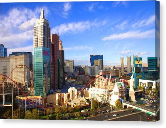 New York New York Las Vegas Nevada Canvas Print
