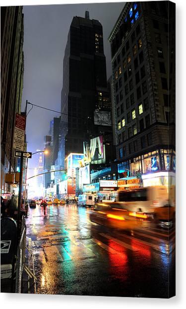 New York Night Canvas Print by Stephen Richards
