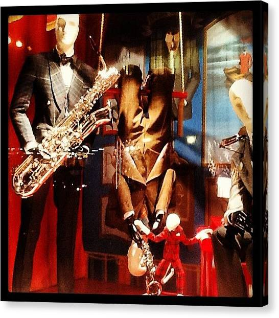 Saxophones Canvas Print - New York, Ny - Monkey Suits by Trey Kendrick