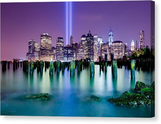 New York Pier Tribute Canvas Print