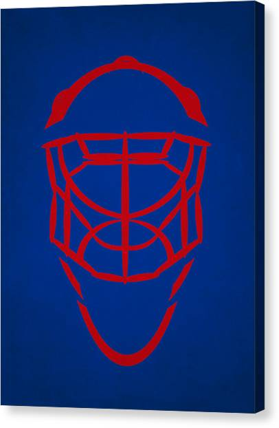 New York Rangers Canvas Print - New York Rangers Goalie Mask by Joe Hamilton