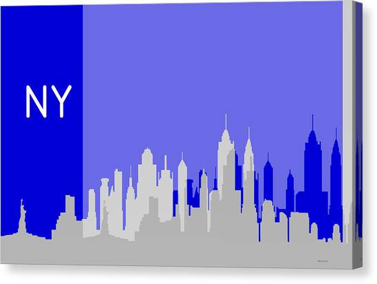 New York Shadows Canvas Print