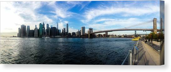 Statue Of Liberty Canvas Print - New York Skyline - Color by Nicklas Gustafsson