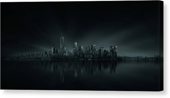 Panorama Canvas Print - New York Skyline by Miguel Angel Martin