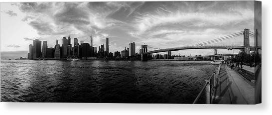 Statue Of Liberty Canvas Print - New York Skyline by Nicklas Gustafsson