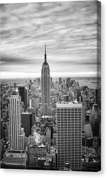 Black And White Photo Of New York Skyline Canvas Print