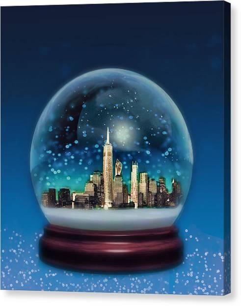 New York Snow Globe Canvas Print