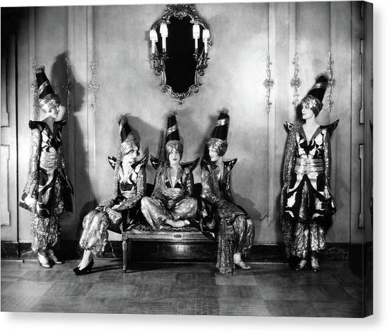 Big Sister Canvas Print - New York Society Members Pose For A Portrait by Edward Steichen