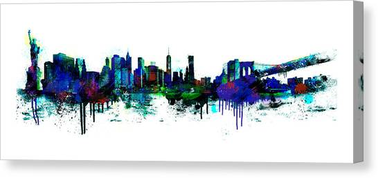 New York Spray Canvas Print