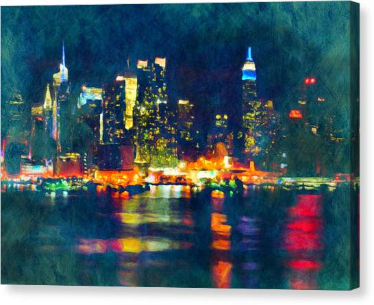 New York State Of Mind Abstract Realism Canvas Print