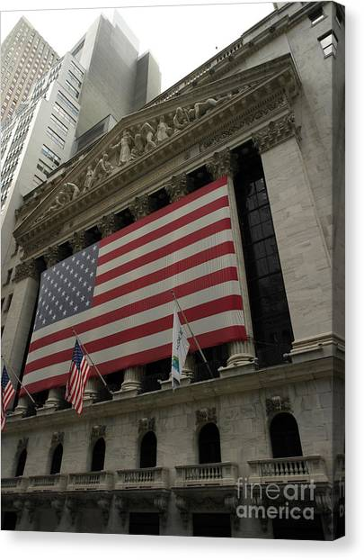New York Stock Exchange Canvas Print by David Bearden
