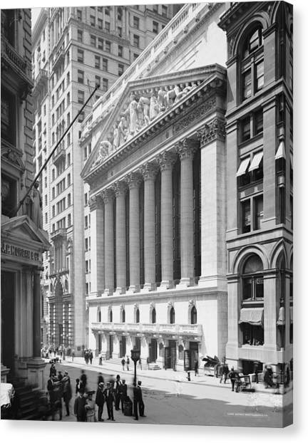 Neoclassical Art Canvas Print - New York Stock Exchange, New York In 1904 by American School