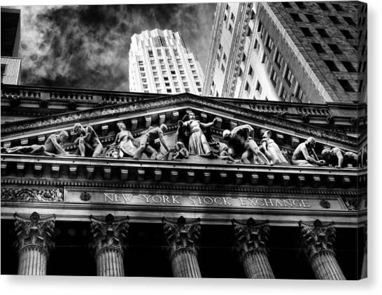 New York Stock Exchange Canvas Print by Jose Maciel
