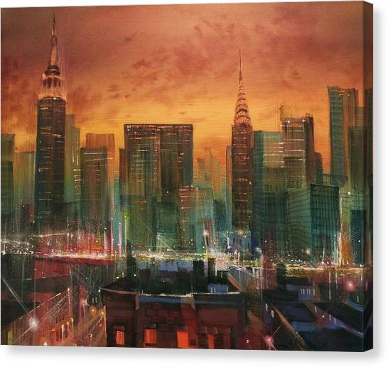Chrysler Building Canvas Print - New York The Emerald City by Tom Shropshire