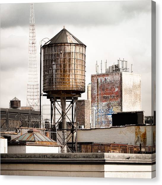 New York Water Tower 16 Canvas Print